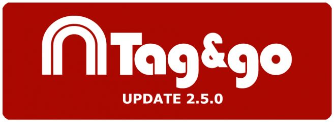 Tag&go for iPhone with update 2.5.0