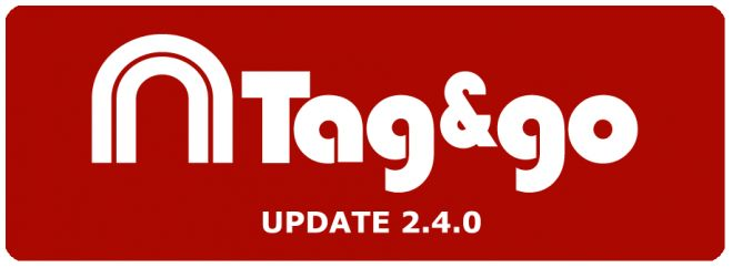 Group buttons in the Tag&go update 2.4.0