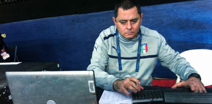 Davide Marfella, match analyst for the Italian futsal team (futsal, Italy)